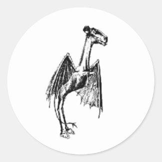 Jersey Devil Round Sticker