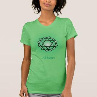 Jersey fino de Chakra American Apparel del corazón Camiseta