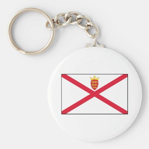 Jersey Flag Keychain