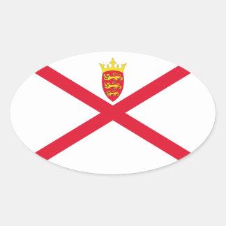 Jersey Flag Oval Sticker