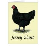 Jersey Giant:  Black Hen Stationery Note Card