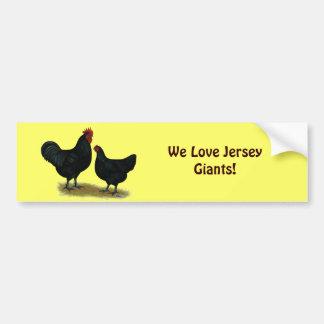 Jersey Giant Chickens Car Bumper Sticker