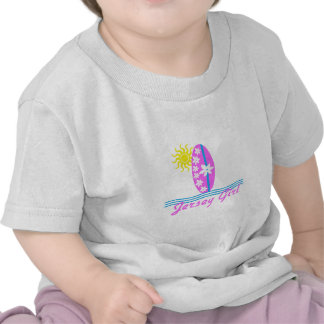 Jersey Girl baby Bodysuit Pink Surfboard W/Sun