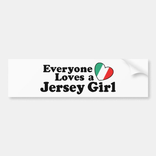 Jersey Girl Bumper Sticker