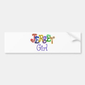 Jersey Girl Bumper Sticker