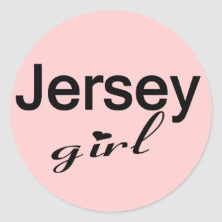 Jersey Girl Classic Round Sticker