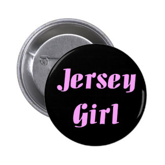 JERSEY GIRL Embroidered Hat 2 Inch Round Button