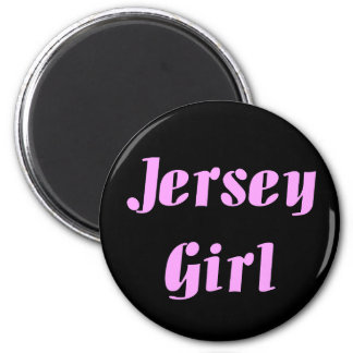 JERSEY GIRL Embroidered Hat 2 Inch Round Magnet