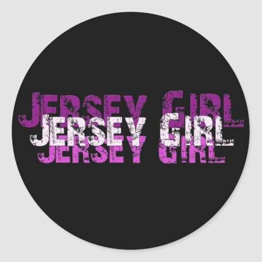 JERSEY GIRL gifts & greetings Round Stickers
