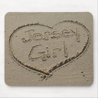 Jersey Girl in the Sand Mousepad