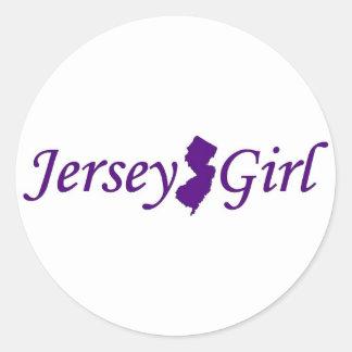 Jersey Girl Round Sticker