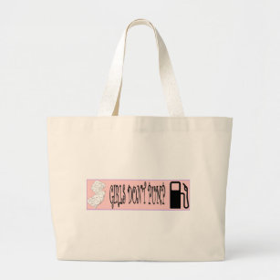 Jersey S Don T Pump Gas Large Tote Bag