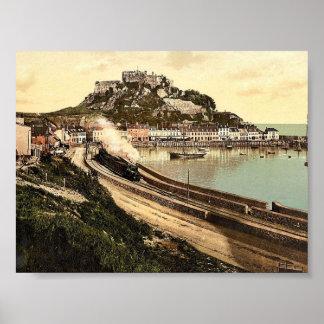 Jersey, Gorey y el castillo, isla de canal, Inglés Impresiones