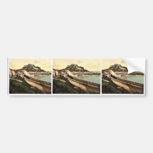 Jersey, Gorey y el castillo, isla de canal, Inglés Pegatina Para Auto