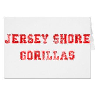 Jersey Gorillas Greeting Card