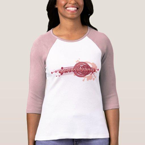 Jersey gráfico rosado de la camiseta de Pennsylvan