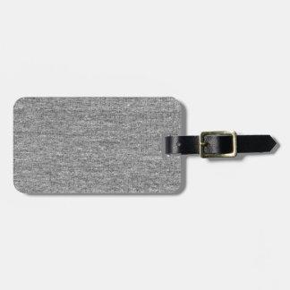 Jersey Grey Cotton Texture Bag Tag