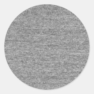 Jersey Grey Cotton Texture Classic Round Sticker