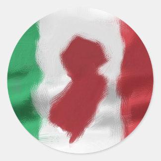 Jersey Italian Pride Classic Round Sticker