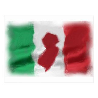 Jersey Italian Pride Postcard