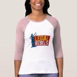 Jersey legal T de la señora justicia de los rebeld Camisetas