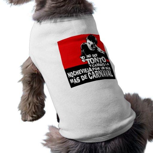 Jersey mascota Carnaval Tshirt De Perrito