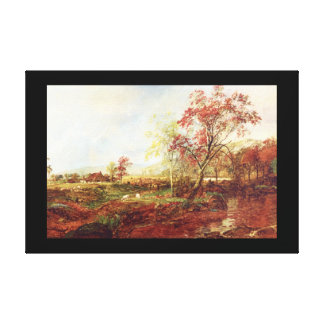 Jersey Meadowland', Jasper F. Cropsey_Landscapes Canvas Print