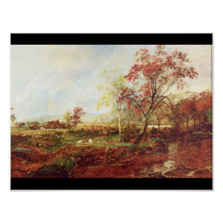 Jersey Meadowland', Jasper F. Cropsey_Landscapes Poster