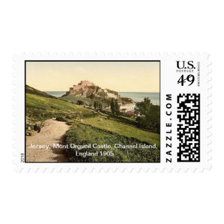 Jersey,Mont Orgueil Castle,Channel Island,England Stamps