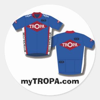 Jersey, myTROPA.com Classic Round Sticker