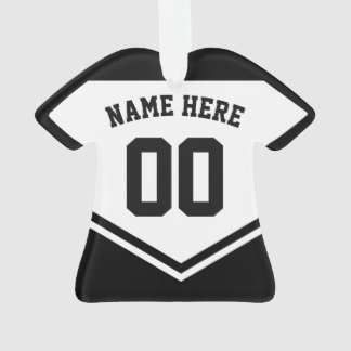 Jersey Name Number Ornament Template, Hockey Rugby