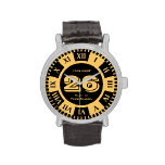 Jersey Number Black and Gold Varsity Colors Wrist Watches