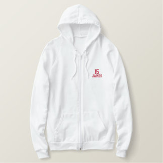 Jersey Number Embroidered Hoodie