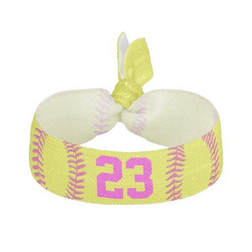 Jersey NUMBER / MONOGRAM Softball Hair Accessories Elastic Hair Ties