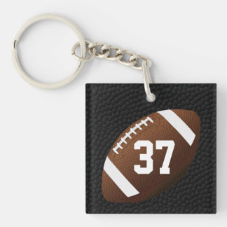 Jersey NUMBER or MONOGRAM Football Keychains