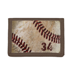 Jersey Number Or Your Monogram Baseball Wallet at Zazzle