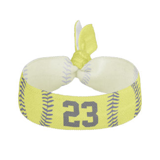 Jersey NUMBER Softball Hair Accessories for Girls Hair Tie