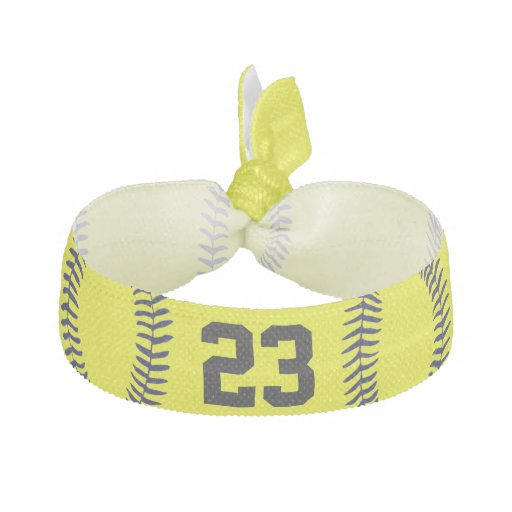 Jersey NUMBER Softball Hair Accessories for Girls Elastic Hair Ties