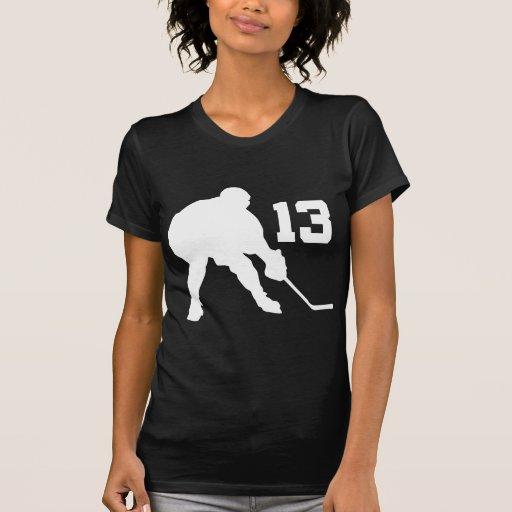 Jersey número 13 del jugador del hockey sobre hiel camisetas