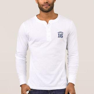 Jersey número 16 de los deportes de las camisetas