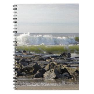 Jersey Ocean Waves Notebook