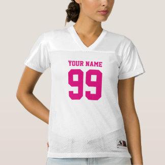 Jersey para mujer del fútbol con el número rosado
