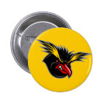 "Jersey Penguins ""Angry Penguin"" Round Button"