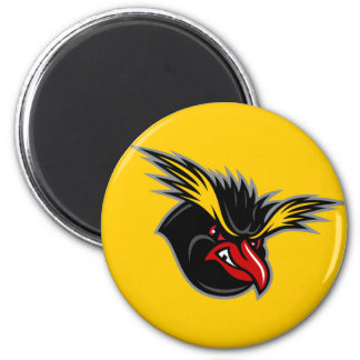 """Jersey Penguins """"Angry Penguin"""" Round Magnet"""