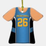 Jersey personalizado 26 V1 del baloncesto del azul Ornamento De Navidad
