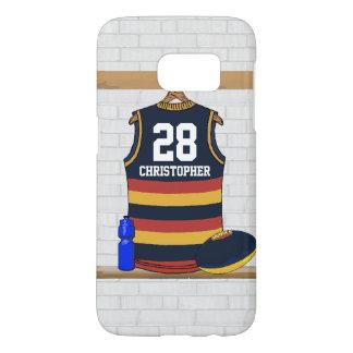 Jersey personalizado BRY del fútbol de las reglas Funda Samsung Galaxy S7