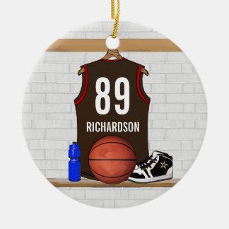 Jersey personalizado del baloncesto (BRO) Ornamentos Para Reyes Magos
