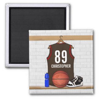 Jersey personalizado del baloncesto (BRO) Imán Para Frigorifico