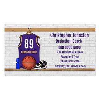 Jersey personalizado del baloncesto de la púrpura tarjetas de visita