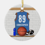 Jersey personalizado del baloncesto (LBO) Adorno De Navidad